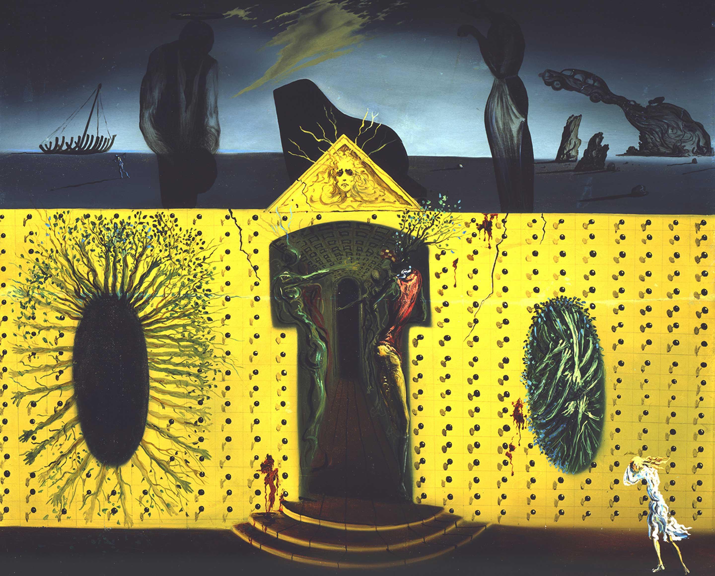 サルバドール・ダリ 《狂えるトリスタン》 1938 年、45.7×54.9 cm、板に油彩、サルバドール・ダリ美術館蔵 Collection of the Salvador Dalí Museum, St. Petersburg, Florida Worldwide rights: © Salvador Dalí, Fundació Gala-Salvador Dalí, JASPAR, Japan, 2016. In the USA: ©Salvador Dalí Museum Inc. St. Petersburg, Florida, 2016.