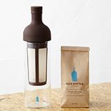 「コールドブリューキット」(1名様)と「ブルーボトルコーヒー・シングルオリジン・セレクション3種」のコーヒー豆セット(2名様)をプレゼントいたします