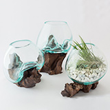 バリのアーティストによるガラスと流木でできたオブジェを3名様にプレゼント