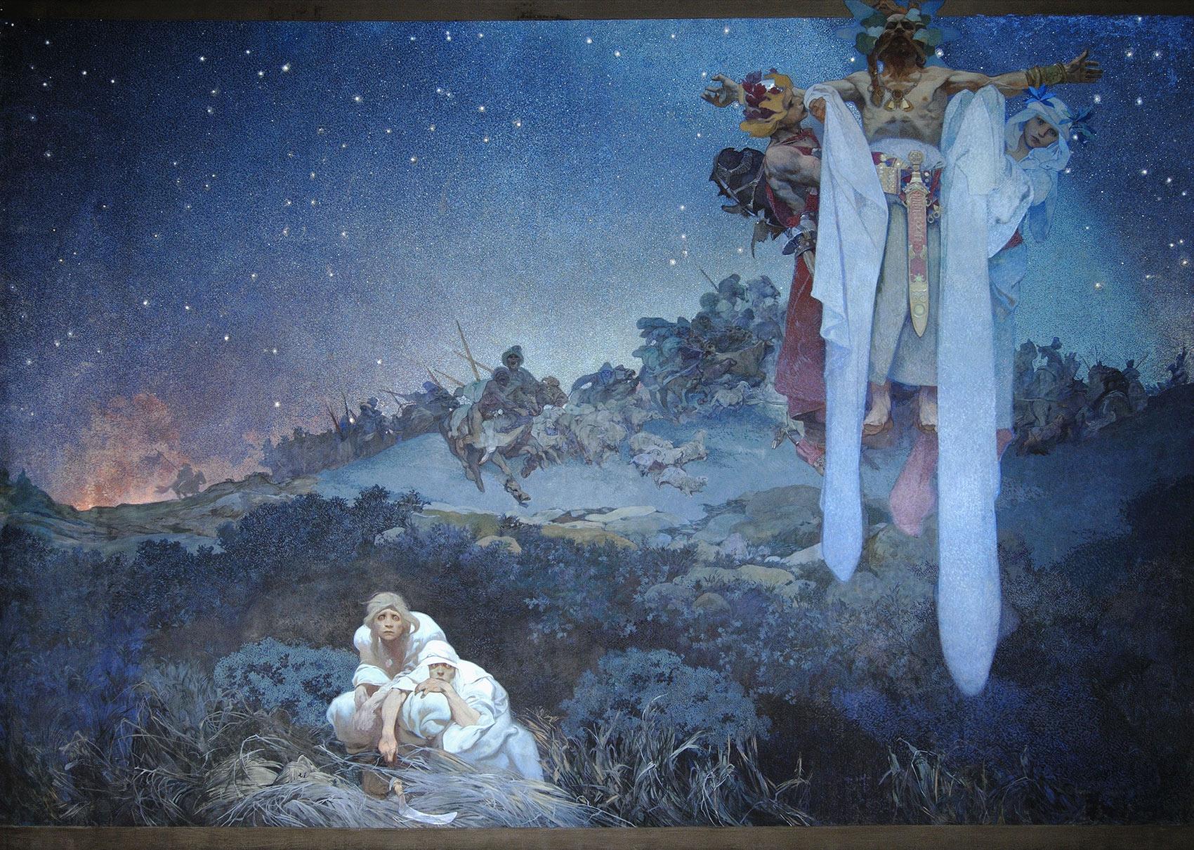 《スラヴ叙事詩「原故郷のスラヴ民族」》1912年 プラハ市立美術館 ©Prague City Gallery