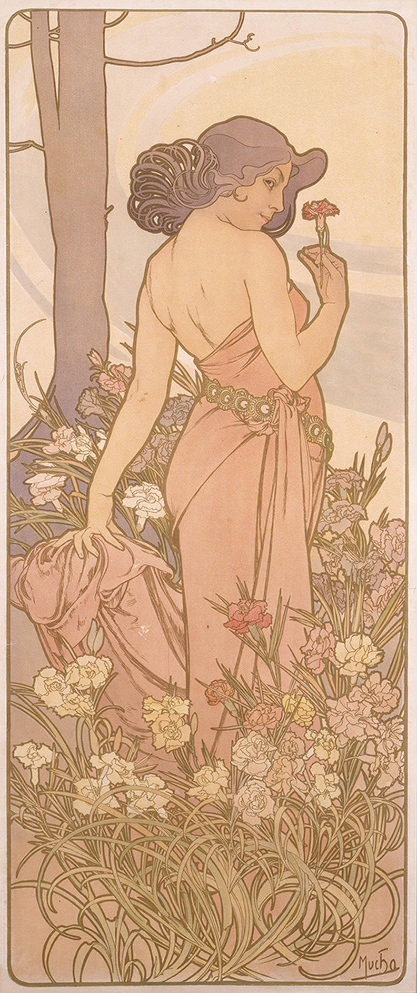 《四つの花「カーネーション」》1897年 堺市