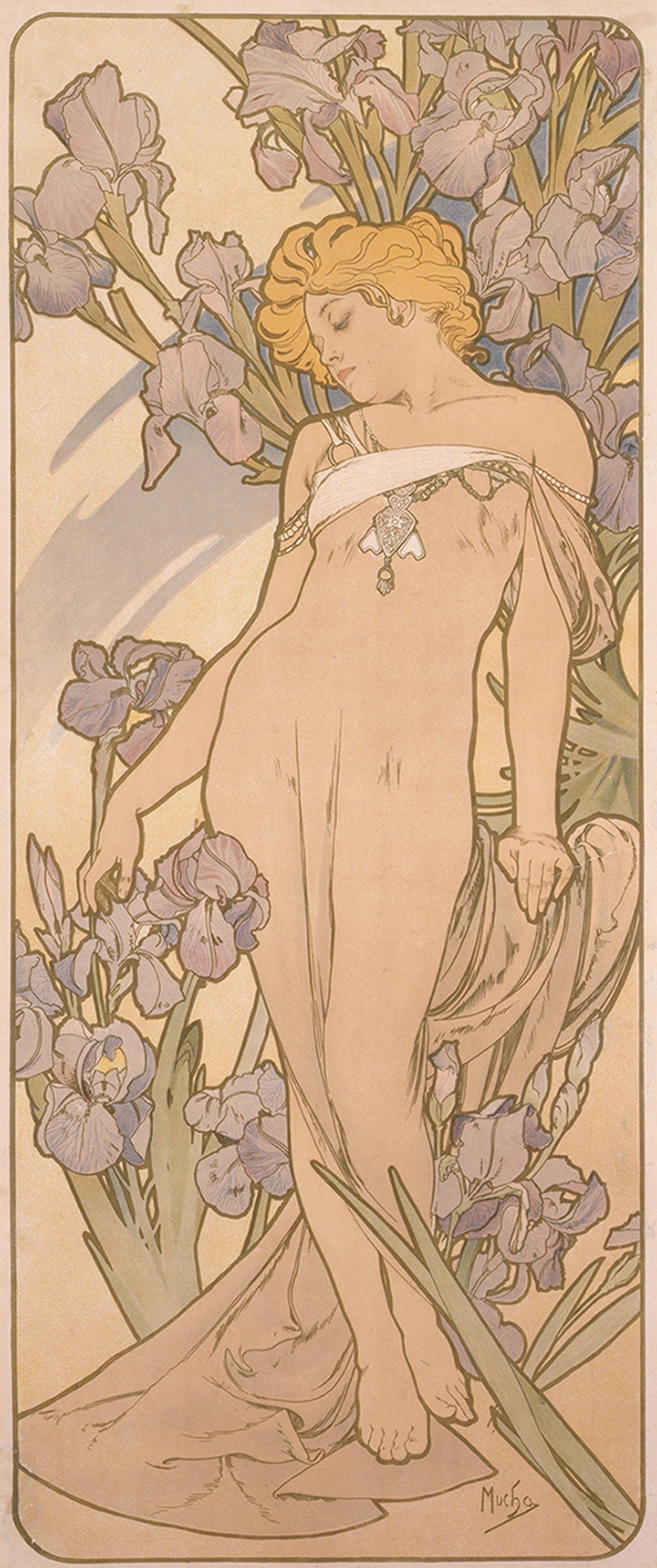 《四つの花「アイリス」》1897年 堺市