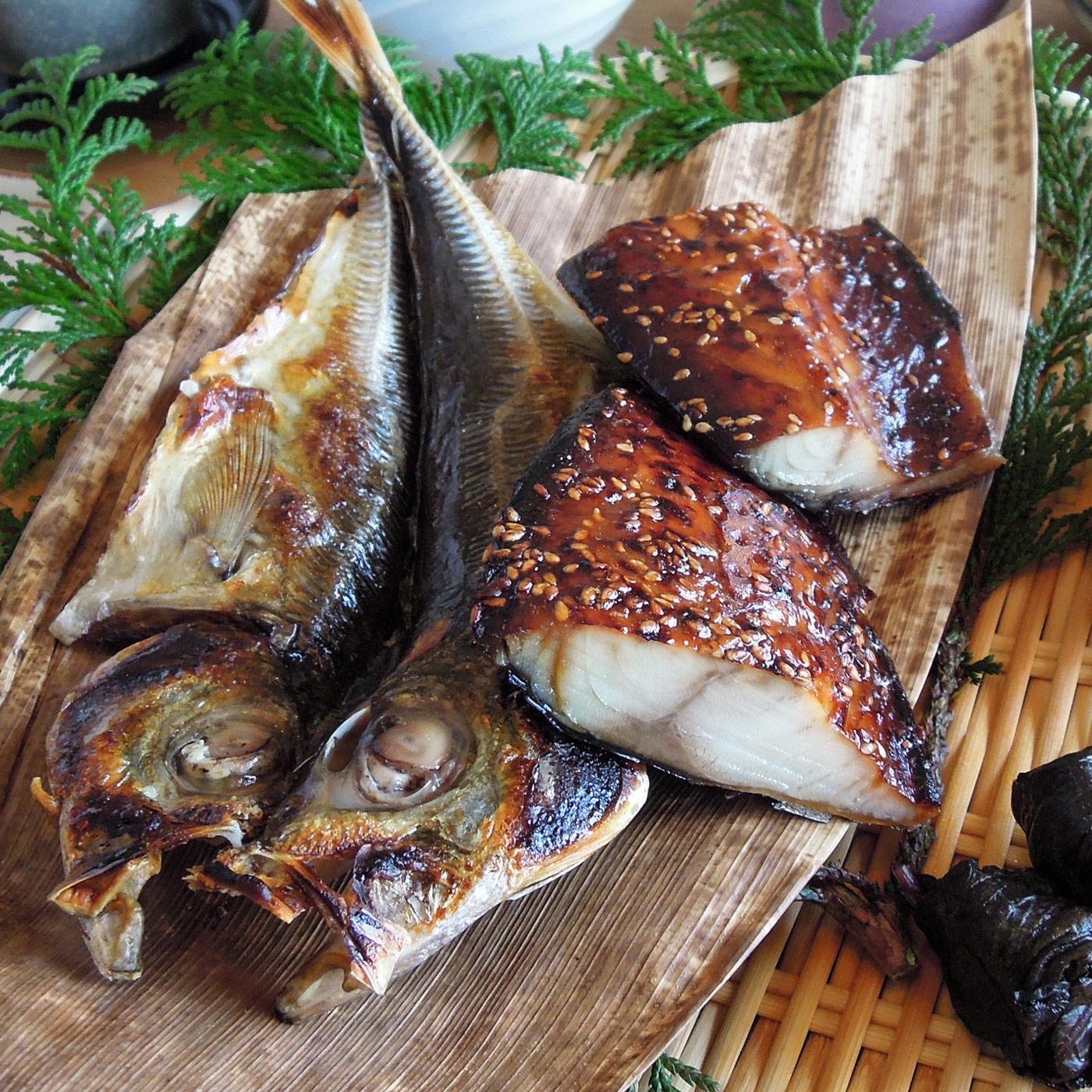 肉厚の鯖の味醂干しは、まさに日本の朝餉。