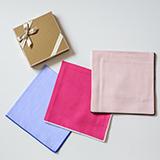 海島綿ハンカチーフ(刺繍サービス券付き)を3名様にプレゼント