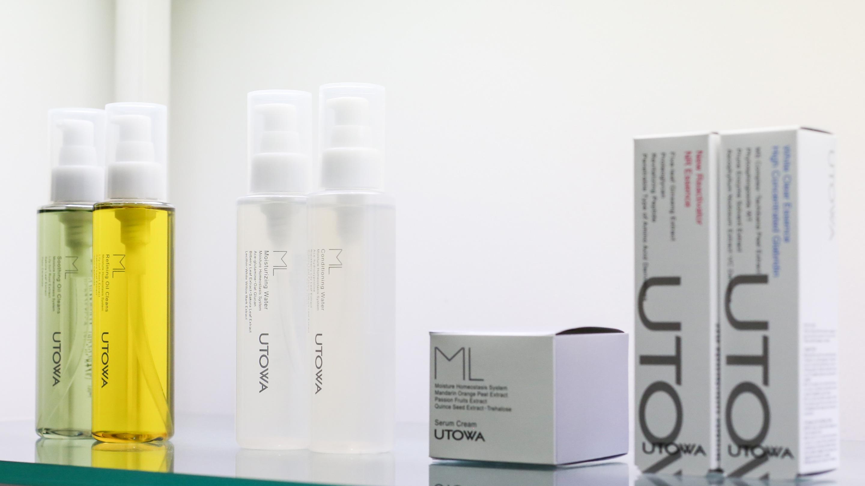 ウトワの「ML(エメル)」ラインは、肌の「潤い」に重点を置いた化粧品シリーズ。クレンジングからスペシャルケアまで、手頃な価格でラインナップされている。