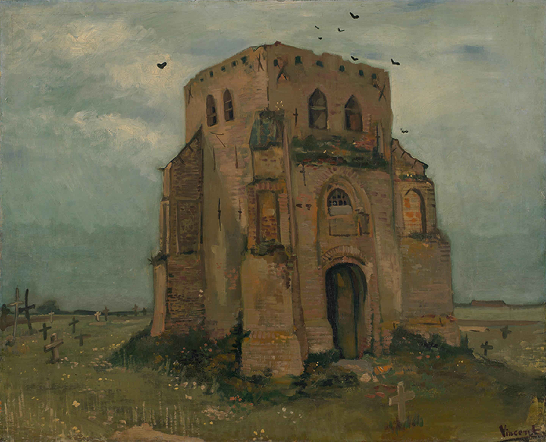 フィンセント・ファン・ゴッホ「古い教会の塔、ニューネン(「農民の墓地」)1885年5-6月 ファン・ゴッホ美術館(フィンセント・ファン・ゴッホ財団) ©Van Gogh Museum, Amsterdam (Vincent van Gogh Foundation)