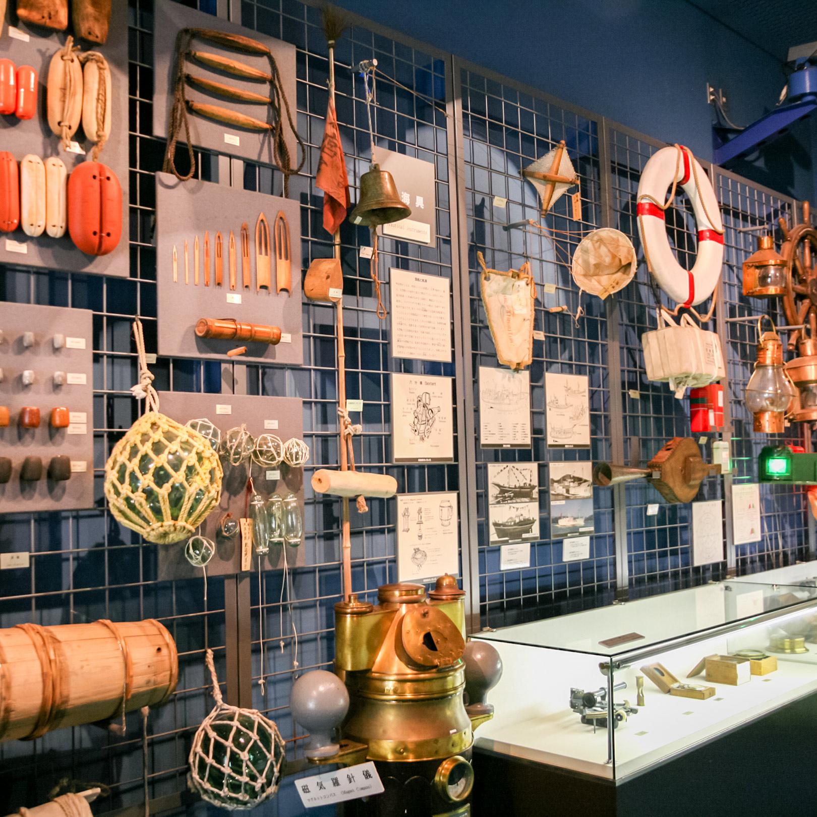 昔の漁業から現代の漁業まで、分かりやすく展示されている。