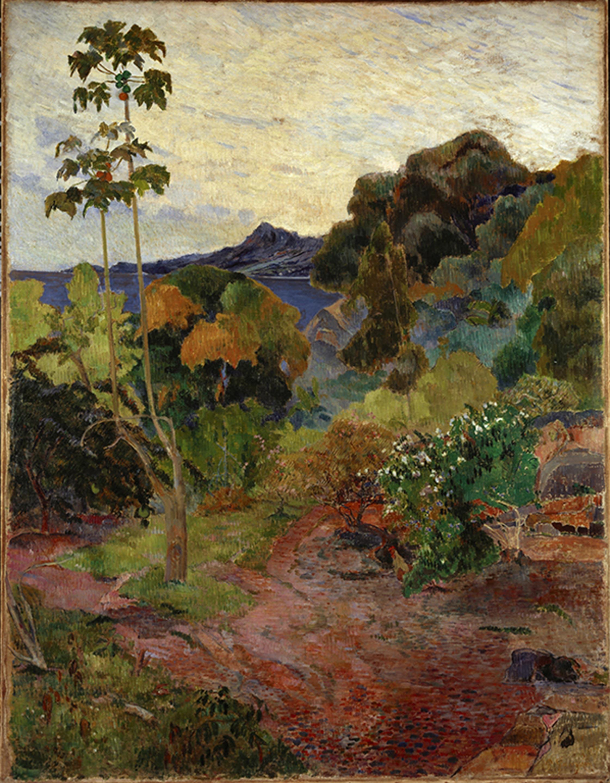 ポール・ゴーギャン「マルティニク島の風景」1887年6-11月 スコットランド国立美術館 ©Scottish National Gallery