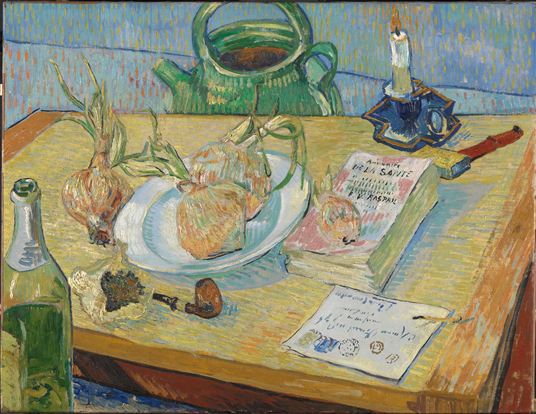 フィンセント・ファン・ゴッホ「タマネギの皿のある静物」1889年1月初め クレラー=ミュラー美術館 ©Kröller-Müller Museum, Otterlo