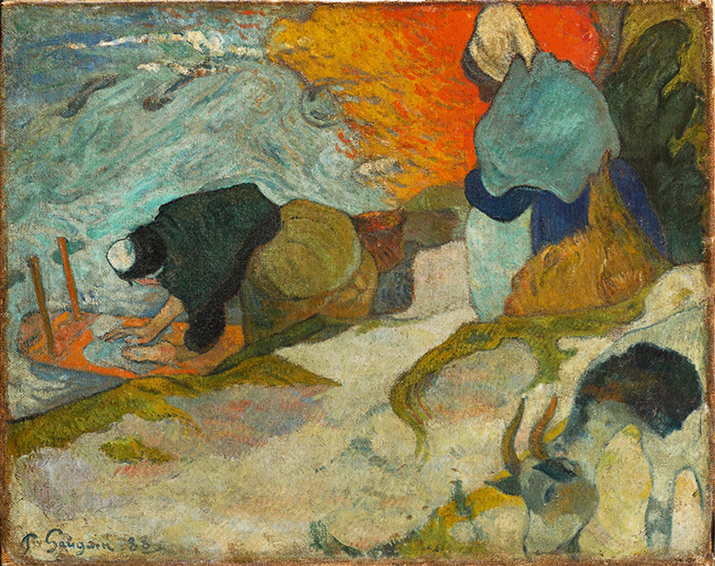 ポール・ゴーギャン「アルルの洗濯女」1888年11月 ビルバオ美術館 ©Bilboko Arte Ederren Museoa-Museo de Bellas Artes de Bilbao