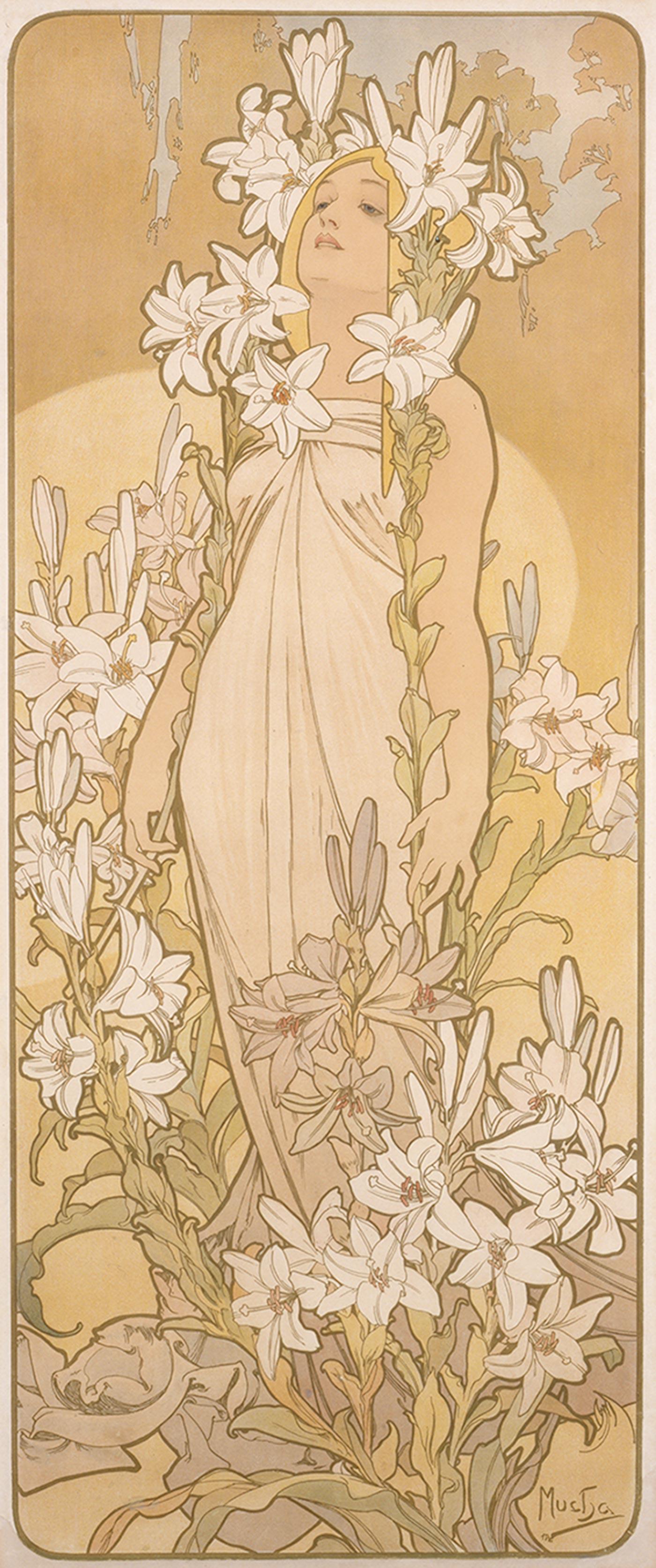 《四つの花「ユリ」》1897年 堺市