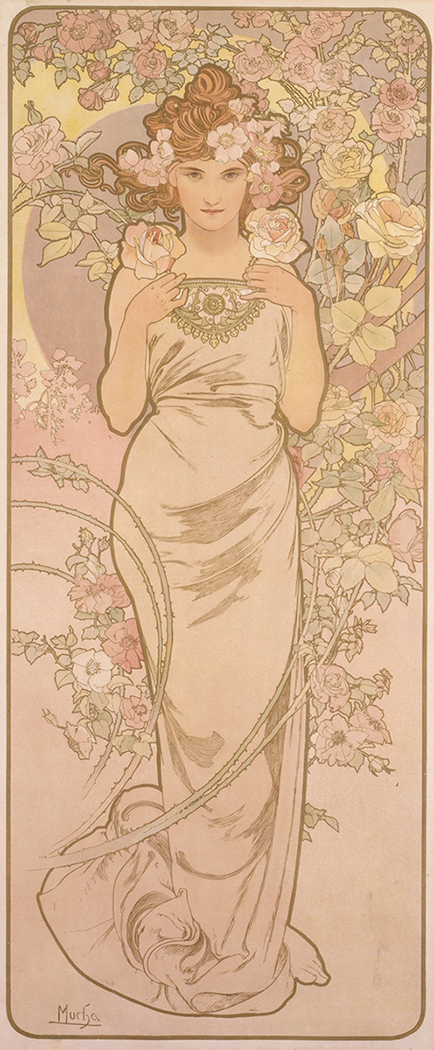 《四つの花「バラ」》1897年 堺市