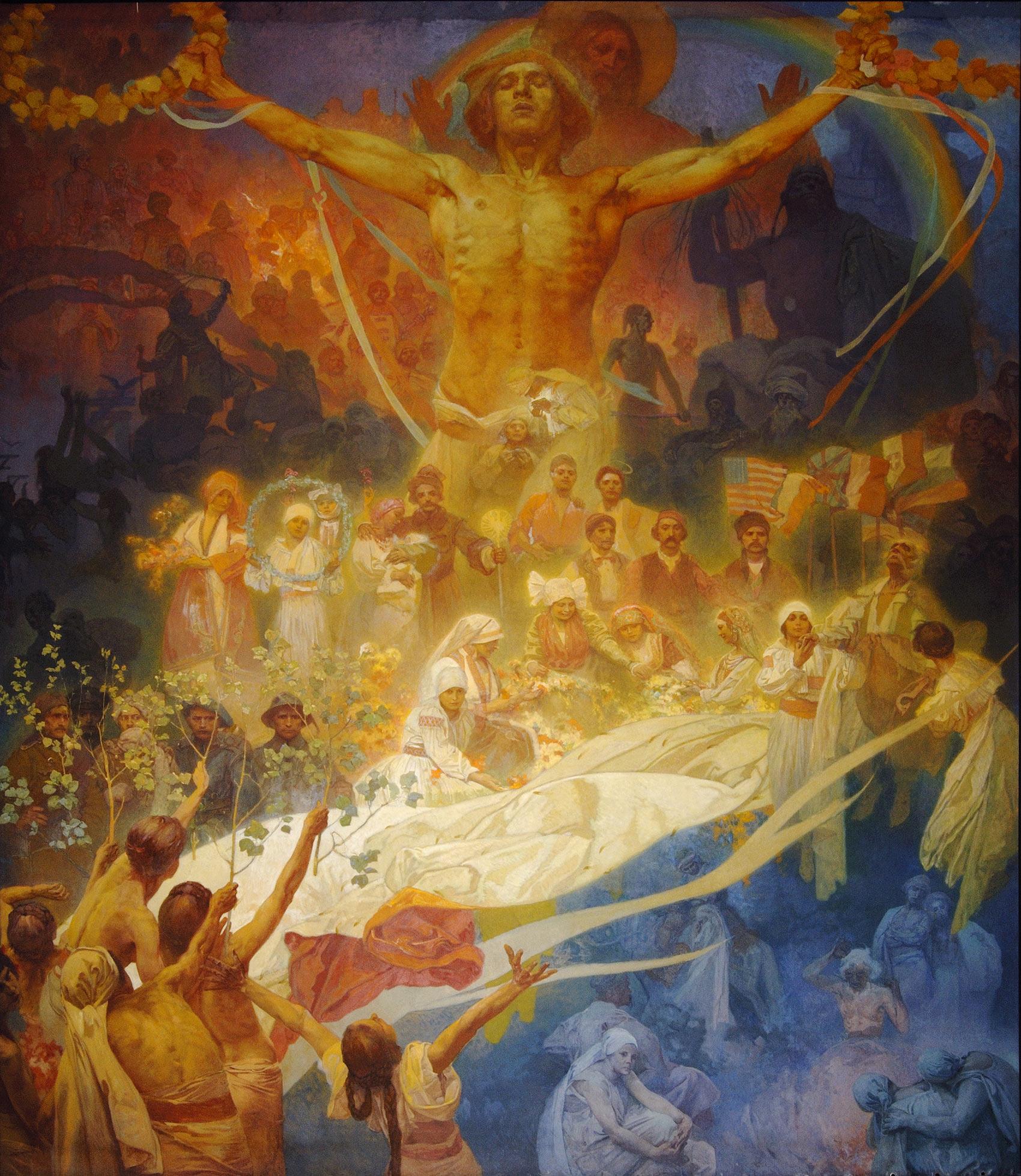 《スラヴ叙事詩「スラヴ民族の神格化」》 1926年 プラハ市立美術館 ©Prague City Gallery