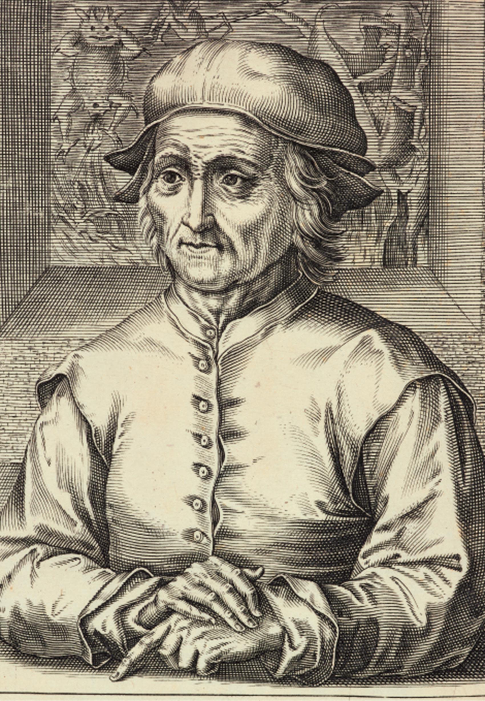 ヘンドリック・ホンディウス1世(版刻)「ヒエロニムス・ボスの肖像(部分)」1610年 エングレーヴィング Museum BVB, Rotterdam, the Netherlands