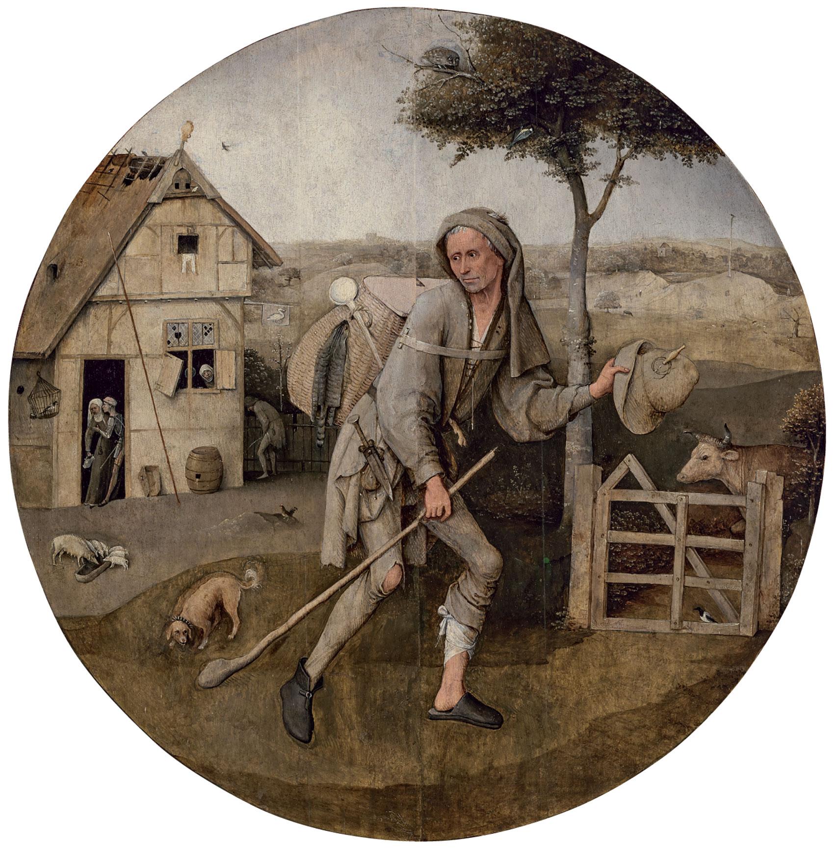 ヒエロニムス・ボス「放浪者」1500年頃 油彩、板 Museum BVB, Rotterdam, the Netherlands