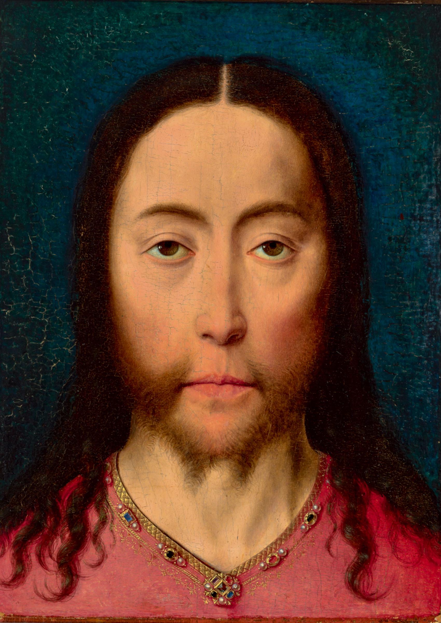 ディルク・バウツ「キリストの頭部」1470年頃 油彩、板 Museum BVB, Rotterdam, the Netherlands